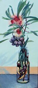 Original Oil Painting, Pin-cushion Hakea