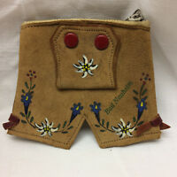 Vintage Change Coin Purse Made in Germany Bed Nauhelm Leather