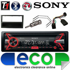Vauxhall Corsa C Sony CD MP3 USB Bluetooth Car Stereo Black Fascia Steering Kit