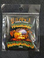 Universal Orlando Halloween Horror Nights HHN 1992 Throwback Pumpkin Magnet NIB