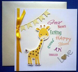 NEW BABY / PREGNANCY CONGRATULATIONS CARD 3D / handmade / for BOY or GIRL