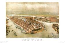 New York City Panoramic Map 1874 Poster