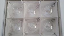 Christmas CLEAR IRIDESCENT GLASS WEDDING BAUBLES BALL ORNAMENT 12 pcs ,80mm!!!!