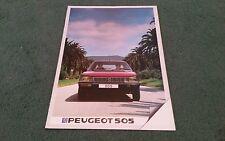 October 1982 1983 PEUGEOT 505 SALOON UK BROCHURE GR GRD SR SRD TURBO STi