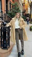 Women's Zara Straight Jeans,Uk Size 4,Leopard Print,Hi Rise,BNWT