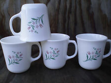 Corelle Dishes Rosemarie White Flared Suprema Mugs Cups Set Of 4