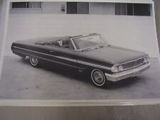 1964 FORD GALAXIE XL 500 CONVERTIBLE  12 X 18 LARGE PICTURE / PHOTO