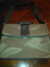 Le Tanneur Leather and Cloth Briefcase Beautifully Made Clean Interior