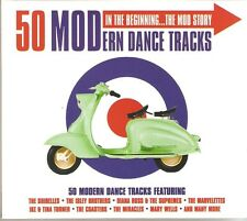 50 MODERN DANCE TRACKS IN THE BEGINNING.. THE MOD STORY - 2 CD BOX SET