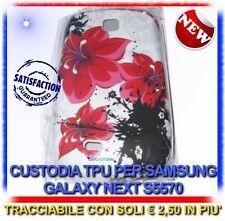 Custodia+Pellicola ORCHIDEA ROSSA per Samsung S5570 galaxy NEXT (B4)
