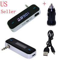 Wireless Music to Car Radio FM Transmitter For 3.5mm iPhone iPod Tablets Nano