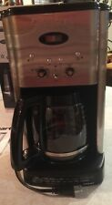 CUISINART DCC-1200 BREW CENTRAL 12-CUP COFFEE MAKER BRUSHED METAL EUC!!!
