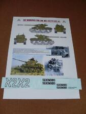 IDF Decals Markings for M51 Sherman 1:16 Scale RC Tank (set 1)