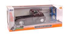 Chevy Coe Pick Up 1952 Metallic Dark Brown + Set Wheels / Tires 1:24 Model