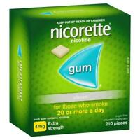 Nicorette Quit Smoking Extra Strength Uncoated Classic Chewing Sugar Free Gum