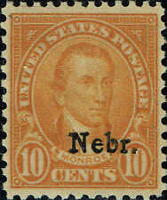 #679 1929 10 CENT NEBRASKA OVERPRINT ISSUE MINT-OG/NH--XF/SUPERB