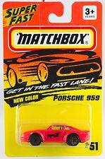 Matchbox MB 51 Porsche 959 Red Rage Gold Wheels New On Card 1994