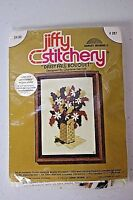 Jiffy Stitchery Daisy Fall Bouquet Charlene Gerrish 1975 Vintage Kit #287 Unused