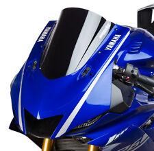 2017 Yamaha R6 Hotbodies Dual Radius GP Double Bubble Windshield - BLACK