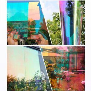 Holographic Decorative Iridescent Window Film Adhesive Glass Rainbow Sticker