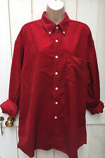 Vintage 80s 90s Oversized Red Cord Shirt XL Grunge Renewal Hipster