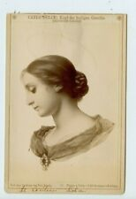 Vintage Cabinet Card Painting Head of St. Cecilia by Carlo Dolce