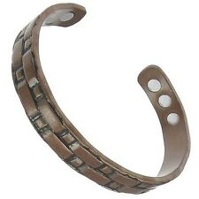 Magnetic Armband Copper Cuff Bangle Health Beauty Pain Relief Healing Aid