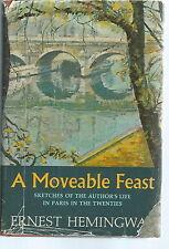 "NK-019 - Ernest Hemingway, A Moveable Feast, 1st Ed, HBDJ 1964 ""A-3.64(H)"""