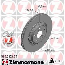 2 x Bremsscheibe Scheibenbremse ZIMMERMANN (590.2825.20)