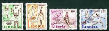 Liberia 1960, ROMA Sport, Postag, Air Mail, Sc 390-392, C126, MNH 2322