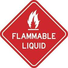6inx6in Flammable Liquid Sticker Warning Decal Window Stickers Wall Decals