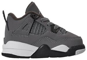 Jordan 4 Retro (TD) 4c, Cool Grey Chrome (BQ7670-007), Toddler Baby Sneakers New
