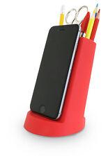 J-me lean escritorio ordenado organizador Teléfono iPhone iPad Tablet Lapicera Lápiz Titular Rojo