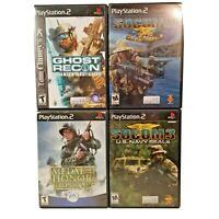 PS2 Medal of Honor Frontline Ghost Recon Socom 2 & 3 Play Station 2 Video Games
