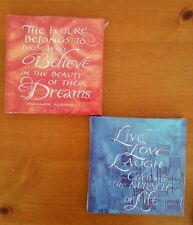 "Love Live Laugh Inspirational Canvas Art 8""x 8"" inches set of 2 pieces"