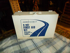 Vintage CHAMP SERVICE ITEMS First Aid Kit Metal Wall Mount Box (Empty)
