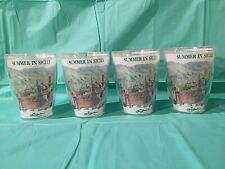 Set of Four 16 Ounce Plastic Tumblers Olive Garden Collector's Series 1992