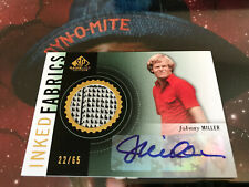 Johnny Miller Auto 22/65 2013 SP Game Used Edition Signature autograph signed UD
