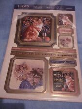 HUNKYDORY ADORABLE SCORABLE JUST FUR YOU TOPPERS A4 CARD INSERTS ENVELOPES
