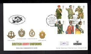"""2007 ARMY UNIFORMS: Royal Mail """"Cachet"""" FDC with Tallents House FDI H/S"""