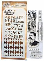 Postal Clear Acrylic Stamp & Stencil Set by Tim Holtz Stampers Anonymous THMM104