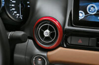 Genuine Fiat 124 Spider Set of Decorative Red Air Vent Rings New 71807615