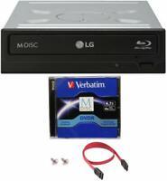 LG WH14NS40 14X Internal Blu-ray BDXL Burner Writer + 1pk M-DISC DVD +SATA Cable