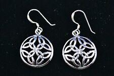 Sterling Silver (925) Celtic Style Earrings #8036