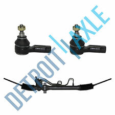 3pc Set: Complete Rack and Pinion Assembly + 2 Outer Tie Rod Ends Fits 01-05 Rio