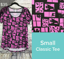 Lularoe NWT Classic T top shirt Cats Ghost Pumpkin Pink Violet S 4 6