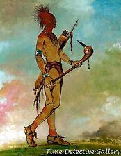 """Shin-ga-wa-sa """"Handsome Bird"""" An Osage Man -1834 - Native American Art Print"""