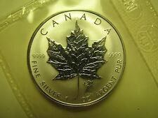 2004 SP $5 1oz .9999 Silver Maple Leaf SML Western Zodiac #6-Virgo Privy Mark Ca