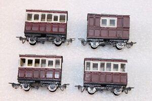 009 / HOe Kit Built 4 Wheel Coaches x 4