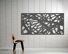 Laser Cut Metal Decorative Screen 'Bedrock' Mild Steel - 1200 x 600